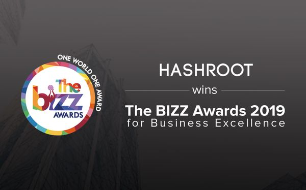 HashRoot Limited wins The BIZZ Awards 2019 for Business Excellence